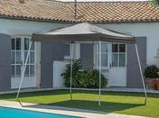 Tente gazebo repliable 3x3m blanche - Table aluminium MT long.160cm prof.90cm haut.74cm gris anthracite - Gedimat.fr