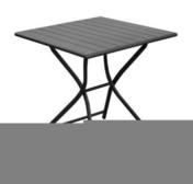 Table aluminium pliante globe dim.70x70cm haut.74cm coloris gris - Table Pique-nique - Plein air & Loisirs - GEDIMAT