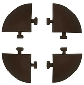 Lot de 4 angles de 5,8 x 5,8 cm marron pour dalle autoportante - Pav�s - Dallages - Mat�riaux & Construction - GEDIMAT