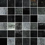 Mosaïque MATTONCINO pour sol en grès cérame coloré dans la masse rectifié OXY dim.30x30cm coloris blackmore 01 - Grès cérame brillant. Dim. 47.1x47.1 cm - Gedimat.fr