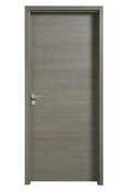 Porte seule coulissante FUJI haut.2,04m larg.83cm revêtu mélaminé finition gris galet - Feuille de stratifié HPL avec Overlay ép.0.8mm larg.1,30m long.3,05m décor Wengue finition Velours bois poncé - Gedimat.fr