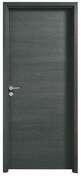 Porte seule coulissante FUJI haut.2,04m larg.83cm revêtu mélaminé finition gris basalte - Feuille de stratifié HPL avec Overlay ép.0.8mm larg.1,30m long.3,05m décor Wengue finition Velours bois poncé - Gedimat.fr