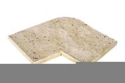 Angle extérieur droit JOUQUES dim.45/40 x 30 x 3,5 cm aquitaine - Panneau polystyrène expansé THERM-CHAPE TH38 ép.100mm larg.1,20m long.2,50m - Gedimat.fr