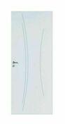 Bloc-porte rainuré KAORI huisserie Néolys 90x49mm à recouvrement haut.204cm larg.83cm gauche poussant - Ensemble de poignées de porte VERONA sur plaque aluminium finition anodisé ton argent à condamnation - Gedimat.fr
