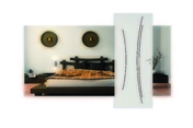 Bloc-porte rainuré KAORI huisserie Néolys 74x49mm à recouvrement haut.204cm larg.73cm gauche poussant - Carrelage pour mur en faïence satinée PLAY larg.20cm long.60cm coloris blanc - Gedimat.fr