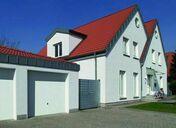 Porte de garage basculante débordante sans rail haut.2,125m larg.2,375m - Porte de garage basculante 121 métallique haut.2,125m larg.2,375m coloris blanc RAL9016 - Gedimat.fr