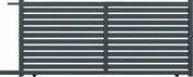 Portail coulissant MERLIN en aluminium haut.1,60m larg.entre piliers  3,50m motorisable coloris gris - Poteau ISIS en acier galvanisé Haut.1,30 m à sceller Noir - Gedimat.fr