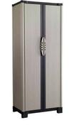Armoire PVC WORKLINE haute grège haut.175cm larg.70cm prof.44cm - Etagères - Quincaillerie - GEDIMAT
