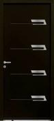Porte d'entrée SAYA en acier laqué gauche poussant haut.2,15m larg.90cm noir 2100 - Doublage isolant plâtre + polystyrène PREGYSTYRENE TH38 ép.13+80mm larg.1,20m long.3,00m - Gedimat.fr
