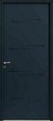 Porte d'entrée ODENSE avec isolation totale de 160 mm en acier gauche poussant haut.2,15m larg.90cm laqué gris - Portes d'entrée - Menuiserie & Aménagement - GEDIMAT