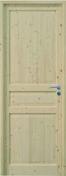 Bloc-porte CIRCEE huisserie 92x45mm en épicéa 1er choix haut.204cm larg.83cm gauche poussant - Rive individuelle gauche à recouvrement grand modèle coloris noir brillant - Gedimat.fr