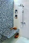 Colonne de douche NF QUADRI 250 chromé - GEDIMAT - Matériaux de construction - Bricolage - Décoration