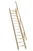 Escalier sapin  en kit TOKYO haut.2,80m avec rampe à lisses - Escaliers - Menuiserie & Aménagement - GEDIMAT