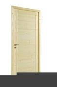 Bloc-porte LUNA huisserie 72x45mm en épicéa 1er choix haut.204cm larg.83cm droit poussant - Embase à visser pour collier de câblage coloris noir en sachet de 10 pièces - Gedimat.fr