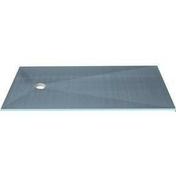 Receveur carré à carreler PRIMO excentré polystyrène extrudé haut.4cm larg.120cm long.120cm - Receveurs - Salle de Bains & Sanitaire - GEDIMAT
