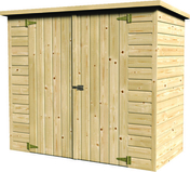 Abri en sapin du nord BIKE BOX ép.12mm dim.1,80x0,9m - Bois Massif Abouté (BMA) Sapin/Epicéa non traité section 100x240 long.9m - Gedimat.fr