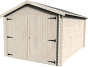 Garage ECO GAMACHE dim.3x4,80 ép.28mm - Bois Massif Abouté (BMA) Sapin/Epicéa non traité section 80x200 long.11,50m - Gedimat.fr