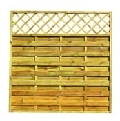 Ecran ajouré avec treillis haut droit en pin haut.180 cm larg.180 cm - GEDIMAT - Matériaux de construction - Bricolage - Décoration