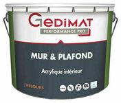Peinture acrylique mur & plafond velours blanc 10 L GEDIMAT PERFORMANCE PRO - Ponceuse à bande 1010W KORMAN - Gedimat.fr