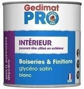 Peinture glycéro boiserie & finition sat 0,5 L GEDIMAT PERFORMANCE PRO - Peintures bois microporeuse - Aménagements extérieurs - GEDIMAT