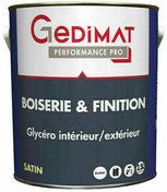 Peinture glycéro boiserie & finition sat 2,5 L GEDIMAT PERFORMANCE PRO - Tuile 1/2 pureau OMEGA 13 coloris rouge - Gedimat.fr