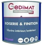 Peinture glycéro boiserie & finition brillant 0,5 L GEDIMAT PERFORMANCE PRO - Peintures bois microporeuse - Aménagements extérieurs - GEDIMAT