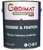 Peinture glycéro boiserie & finition brillant 2,5 L GEDIMAT PERFORMANCE PRO - Mastic salle de bain saine 280 ml coloris granite - Gedimat.fr