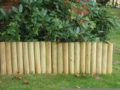 Bordure bois 1/2 rondin haut.20cm long.180cm ép.2,5cm - Bordures de jardin - Matériaux & Construction - GEDIMAT