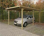 Carport bois éco 1 voiture long.3m prof.5m haut.2,20m - Bois Massif Abouté (BMA) Sapin/Epicéa non traité section 60x120 long.11,50m - Gedimat.fr