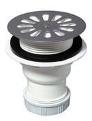 Bonde de douche grille inox WIRQUIN pour receveur diam.60mm sortie verticale - Cabines de douche - Salle de Bains & Sanitaire - GEDIMAT