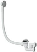 Vidage de baignoire quick clac chrome avec Siphon - Fronton pour rives verticales DC12 et DCL coloris noir brillant - Gedimat.fr