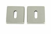 Rosaces carrées acier nickelé satiné entrée de clé 2 pièces - Poutre VULCAIN section 12x40 cm long.3,00m pour portée utile de 2.1 A 2.60m - Gedimat.fr