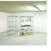 Etagère métal/bois clipsable - Chassis soufflet PVC blanc CALINA haut.45cm larg.60cm vitrage 4/16/4 basse émissivité - Gedimat.fr