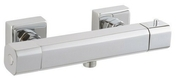 Thermostatique douche THERMOSUR 430 chromé - Volet battant PVC ép.24mm blanc 2 vantaux haut.1,05m larg.1,30m - Gedimat.fr