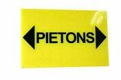 Panneau piétons et flèches 300X200mm - Signalisation - Outillage - GEDIMAT