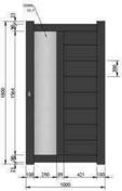 Portillon PORTO en aluminium haut.1,80m larg.entre piliers 1,05m gris - Portail coulissant LACAUNE en aluminium haut.1,80m larg.entre piliers 3,50m gris RAL 7016 STR - Gedimat.fr