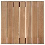 Dalle en bois exotique (Bangkiraï) ép.30mm long.50 larg.50cm  - Terrasses en bois - Aménagements extérieurs - GEDIMAT