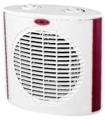 Radiateur soufflant blanc et rouge 2000W - Chauffage soufflant céramique Tako 1800W - Gedimat.fr
