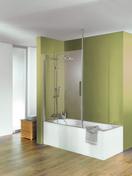 Pare-baignoire ENTRA long.100cm haut.120cm verre transparent avec support plafond - Ecrans de baignoire - Salle de Bains & Sanitaire - GEDIMAT