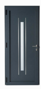 Porte d'entrée XOEN en aluminium gauche poussant haut.2,15m larg.90cm - Bloc porte plane prépeint âme alvéolaire huisserie Néolys 90x49mm larg.83 cm gauche poussant - Gedimat.fr