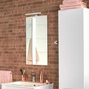 Miroir SUCCES long.40cm haut.74cm - Sèche serviettes ACOVA Cala+air eau chaude 880W blanc - Gedimat.fr