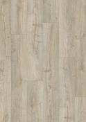 Sol stratifié LIVING EXPRESSION SENSATION ép.8mm larg.190mm long.1380mm chêne nouvelle Angleterre - Plinthe PVC pour sol vinyle lames  ép.10mm larg.60mm long.2020mm blanche - Gedimat.fr