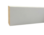 Plinthe en MDF prépeintes blanche à finir section Long.2,44m 14x80mm - Parquets - Menuiserie & Aménagement - GEDIMAT