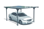 Carport simple en aluminium toit plat long.5m larg.2,94m - Carports - Plein air & Loisirs - GEDIMAT