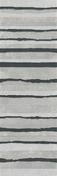 Décor LINED pour mur en faïence NUXE larg.25cm long.75cm coloris white black - GEDIMAT - Matériaux de construction - Bricolage - Décoration