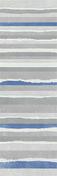 Décor LINED pour mur en faïence NUXE larg.25cm long.75cm coloris white blue - Carrelages murs - Cuisine - GEDIMAT