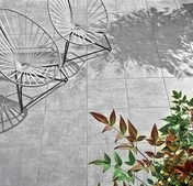 Carrelage pour sol extérieur en grès cérame émaillé SINOPE 45cmx45cm coloris Gris - Carrelages sols extérieurs - Revêtement Sols & Murs - GEDIMAT