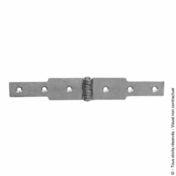 Charnière à congé 30x2,5 L.100 + L.100mm Zinguée blanc - Quincaillerie d'ameublement - Menuiserie & Aménagement - GEDIMAT