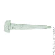 Penture anglaise forte L.400 mm ép.2,5mm Zinguée blanc - Quincaillerie de volets - Menuiserie & Aménagement - GEDIMAT