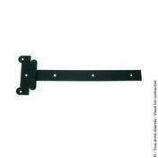 Penture festonnée 30x4 L.400mm Bout droit Trous carrés Noire - Quincaillerie de volets - Menuiserie & Aménagement - GEDIMAT